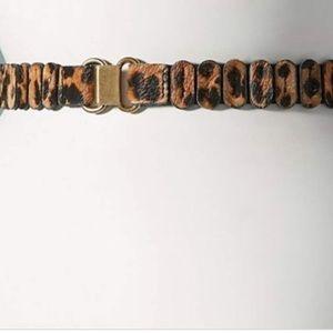 New Anthropologie Leopard Tabby Belt Medium